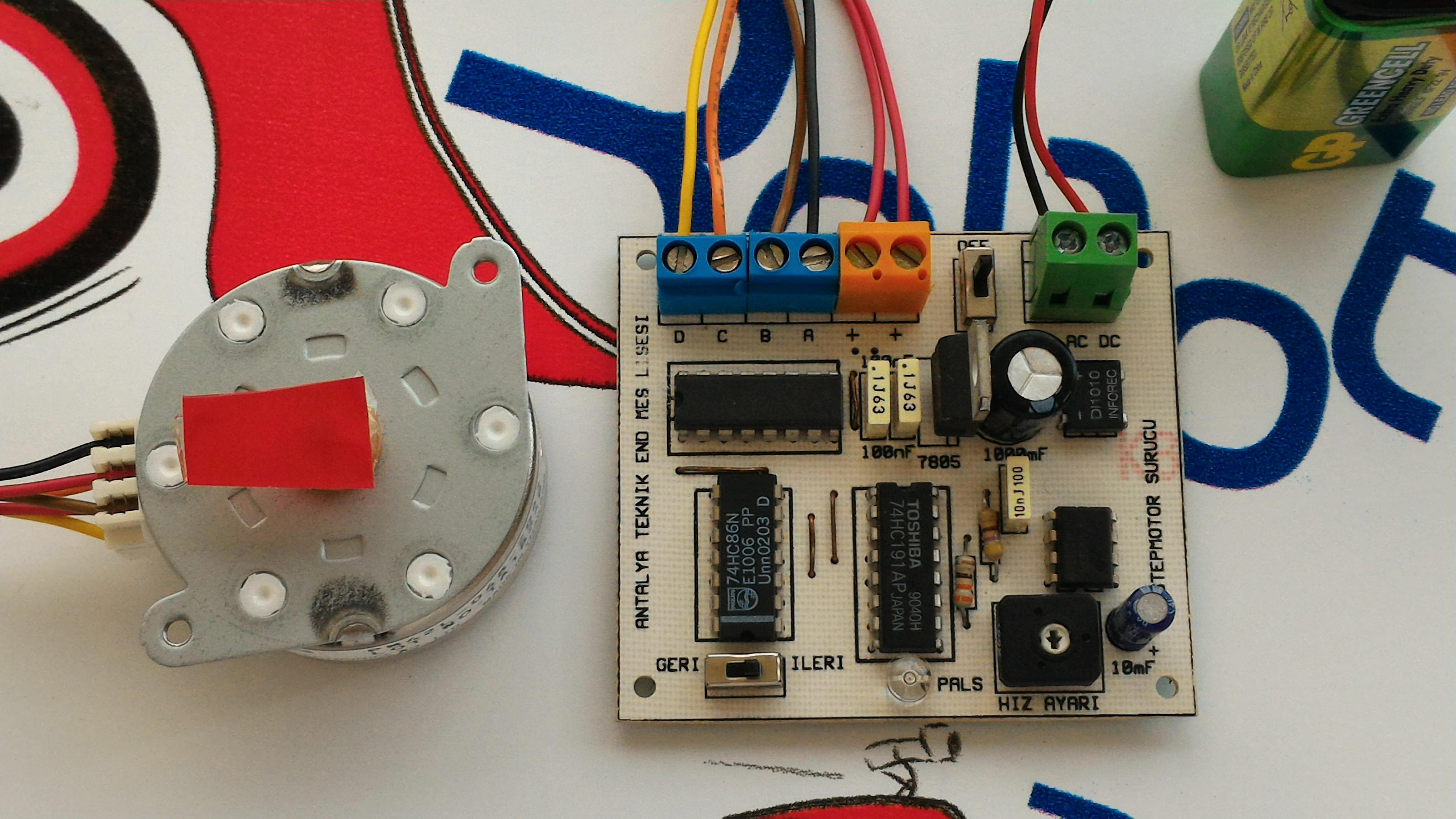 Step motor kontrol kartı