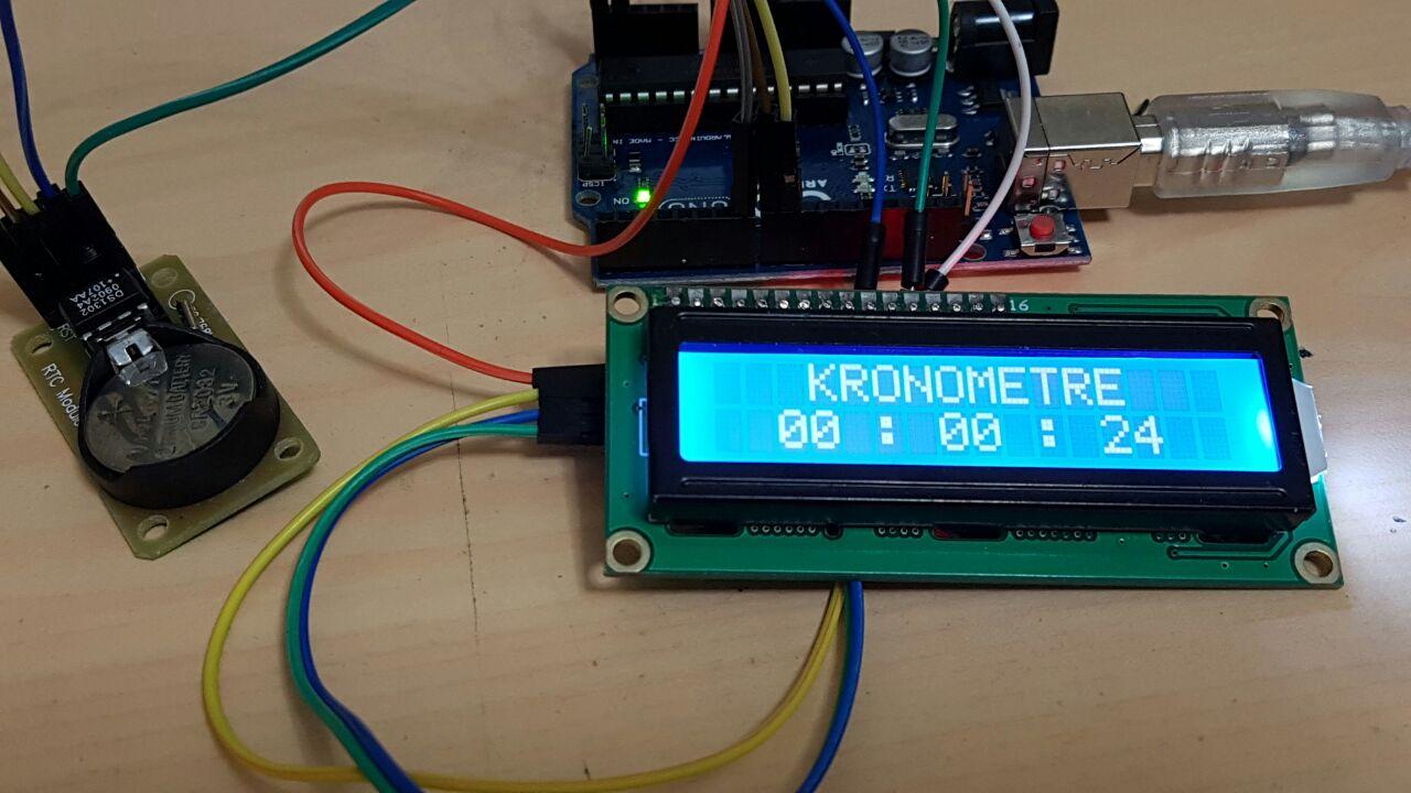 Ders 32 : RTC modülü ile Kronometre uygulaması