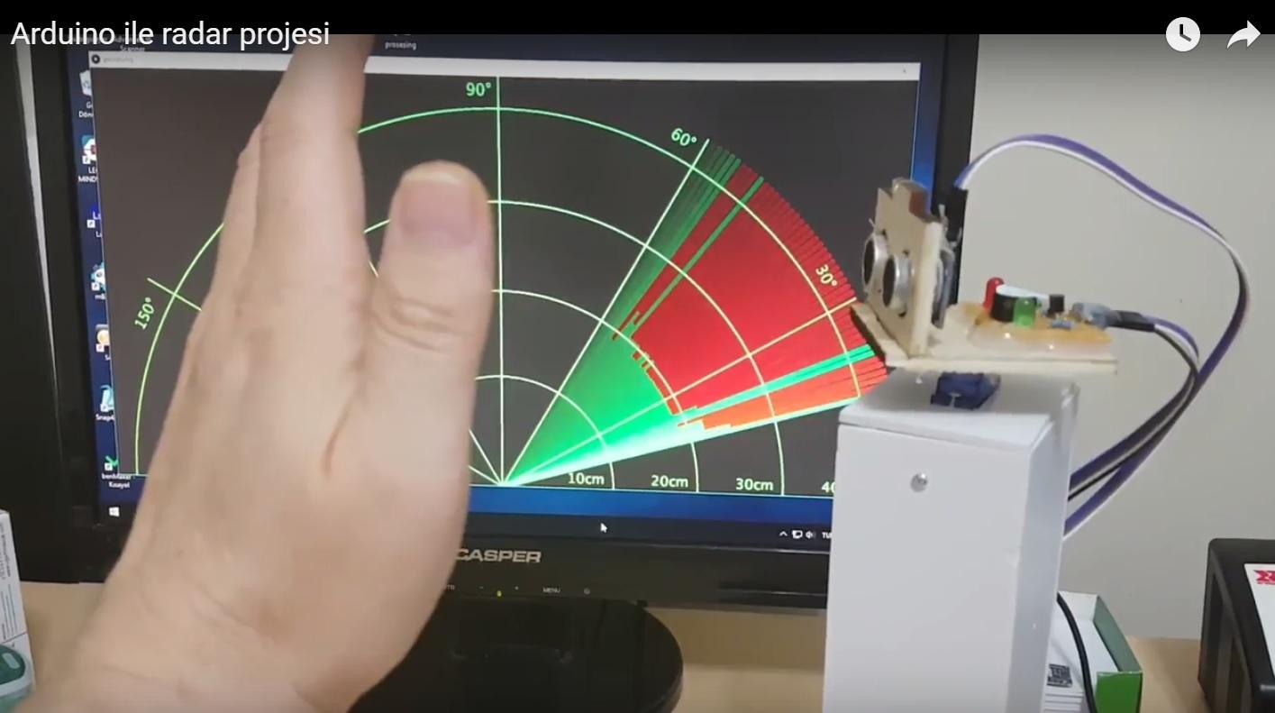 Arduino ile radar projesi