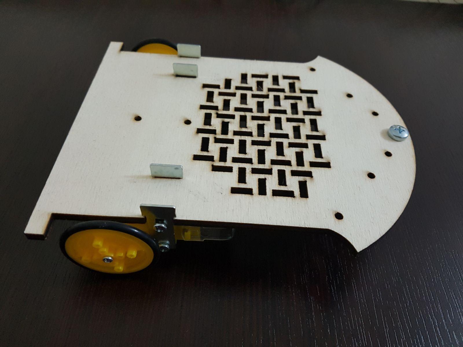 Ahşap cnc lazer kesim robot şasesi