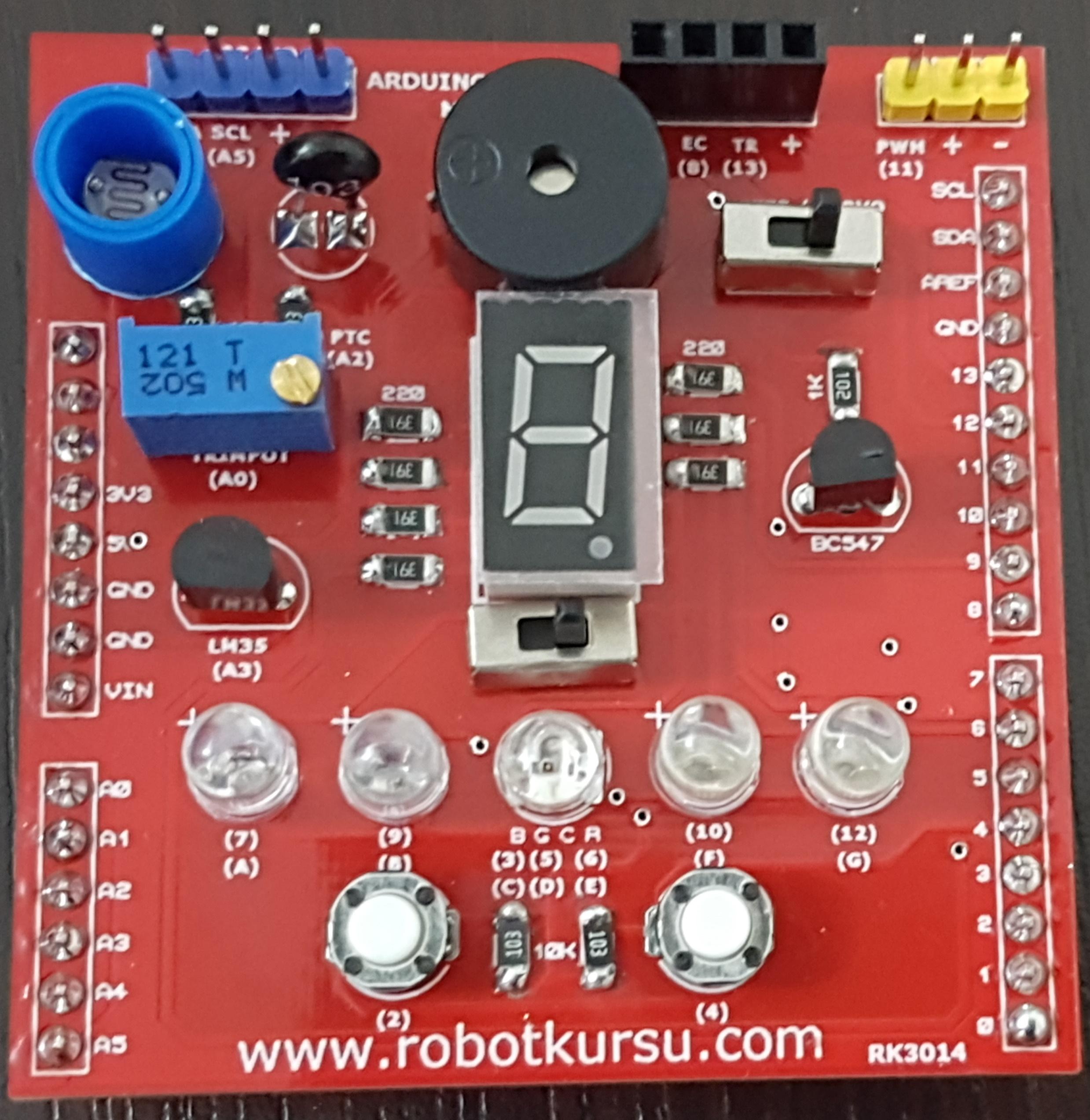 Arduino Scratch modülü 5: 7 Segment display kullanımı